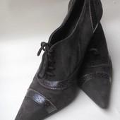 Туфли ботинки ботильоны кожа замш Италия