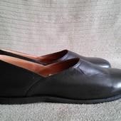 Легчайшие кожаные слиперы темно-коричневого цвета Clifford James 10 р