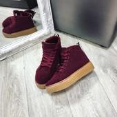 Криперы кроссовки высокие марсала бордо под Puma by Rihanna