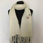 Классический мужской женский шарф однотонный теплый