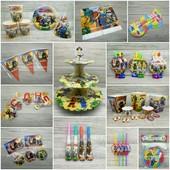 Ninjago. Ниндзяго. Набор ко дню рождения. Посуда и атрибуты для праздника!