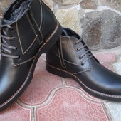 Ботинки мужские. А-26. натур. кожа, натур. цигейка