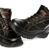 Зимние мужские ботинки на молнию и шнуровку (ЮК-9)