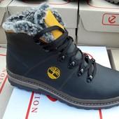Мужские зимние ботинки на меху, кожа