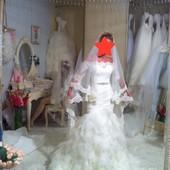 Свадебное платье шикарное невенчаное