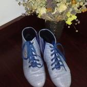 Ботинки туфли слипоны кожаные демисезонные 36р