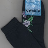 Носки женские махровые х/б Смалий, 23-25 размер.5моделек