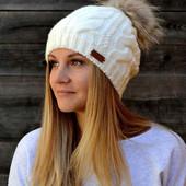 Женская  зимняя шапка р.54-57