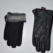 Перчатки из натур. кожи с кашемиром на меху