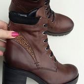 Новые стильные женские ботинки, ботильоны, бренд Maruti, кожаные, 37 р.Оригинал!