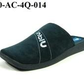100-AC-4Q-014  Тапочки мужские домашние Inblu Инблу цвет - черный, размеры 40-46, материал - велюр