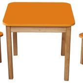 Акция!!Набор из стола и двух стульчиков оранжевый, Финекс(0-92)