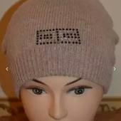 Теплая осенняя шапочка девочке 6-10 лет