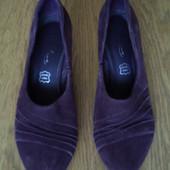 Туфлі замшеві коричневі розмір 5 1/2 на 38 Footglove