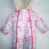 Детские зимние комбинезоны Мишутка для грудничков 0 6 месяцев,цвета разные S462
