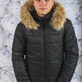 Зимняя мужская куртка с опушкой Разные цвета мужской пуховик
