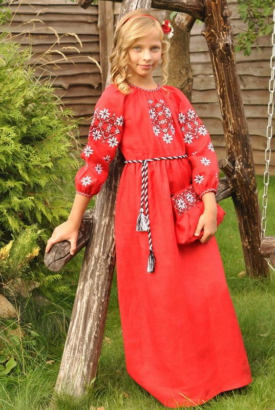 Сукня для дівчинки з натуральної тканини фото №1