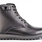 мужские кожаные ботинки зима Код: 077