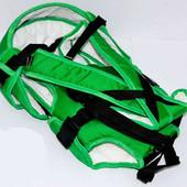 Рюкзак-кенгуру цвет зеленый и красный.Предназначен для детей с двухмесячного возраста