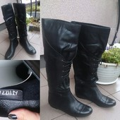 Сапоги кожаные Attizzare 37 размер в отличном состоянии