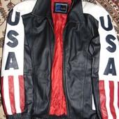 Фирменная стильная брендовая кожаная курточка Basic.м .