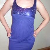 Праздничное платье туника с паетками