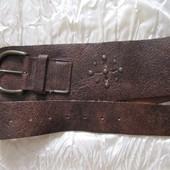 Ремень пояс кожаный широкий коричневый Англия Next