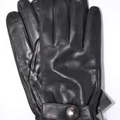 Мужские кожаные перчатки (лайка) на шерстяной подкладке.