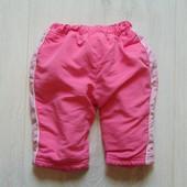 Тёплые спортивные штаники для маленькой модницы. Aardvark. Размер 6-9 месяцев. Состояние: идеальное.