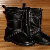 Демисезонные кожаные сапоги 22 р-р, по стельке 13.5 см