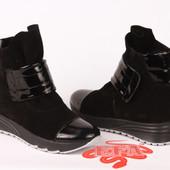 Ботинки кожа/замша цвета деми/зима Модель : Ф 0146- z 21