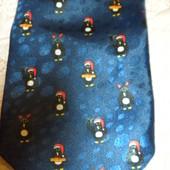 545 Новогодний галстук с пингвинами Menswear