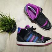 (38р.) Adidas! Оригинал! Кожа! Удобные стильные высокие кроссовки