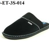 100-ET-3S-014  Тапочки мужские домашние Inblu Инблу цвет - черный, материал - велюр, размеры 40-