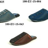 100-EU-1S  тапочки мужские, паркетные, материал-фетр Inblu,Инблу, размеры 40-46
