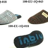 100-EU-1Q  тапочки мужские, паркетные, материал-фетр Inblu,Инблу, размеры 40-46