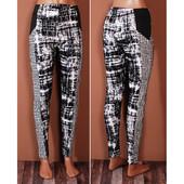Оригинальные зауженные брюки на каждый день с эффектной комбинацией принтов  PN41021
