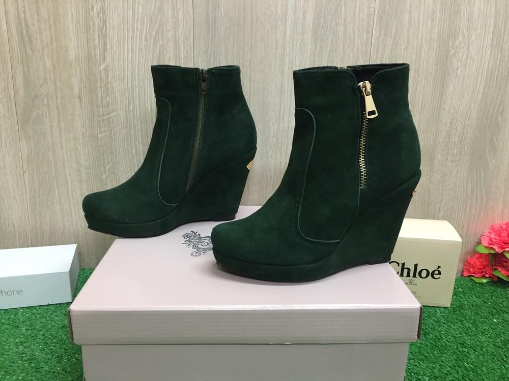 Новые женские зимние  ботинки натуральная замша фото №1