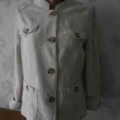 Льняная куртка -пиджак в идеальном состоянии М