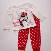 Шикарная пижама Минни Маус Disney 2-3года