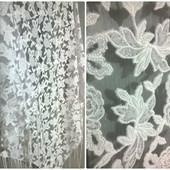 Платок треугольник шаль шарф Кружево Премиум крутой белый Невероятно красивый