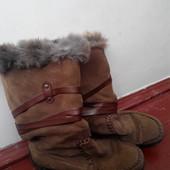 Замшеві зимові чоботи Rieker,зимние сапоги