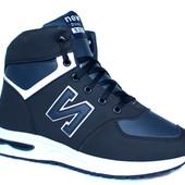 Спортивные мужские кроссовки на зиму утепленные New Balance реплика (NB-521с)
