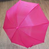 Детский зонт розовый со свистком