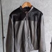 клжаная мужская куртка M