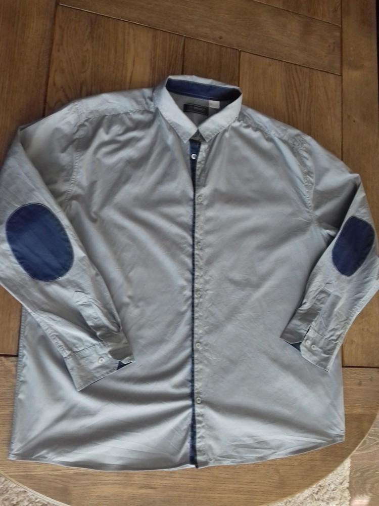 рубашка 47/48 размер отличное состояние  замеры: плечи 54,5 см, пог 70 см, пот 70 см, рукава 65 см, фото №1