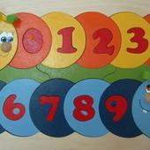 Мозаика «Учимся считать» с дополнительным набором цифр, Крона Артикул: 143-048