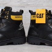 Ботинки мужские кожаные CAT Caterpillar black 42-45 размеры