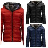 Двусторонняя мужская зимняя куртка