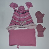 Комплект  зимний  + рукавички на 1,5- 3года